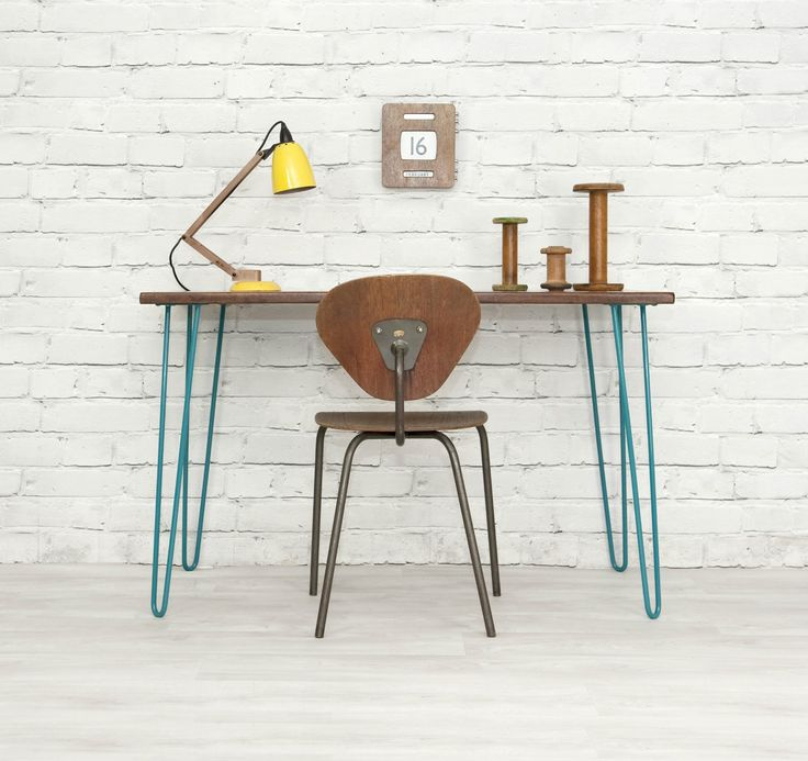 IROKO HAIRPIN LEGS RETRO VINTAGE INDUSTRIAL MID CENTURY DESK TABLE EAMES ERA 60s   eBay