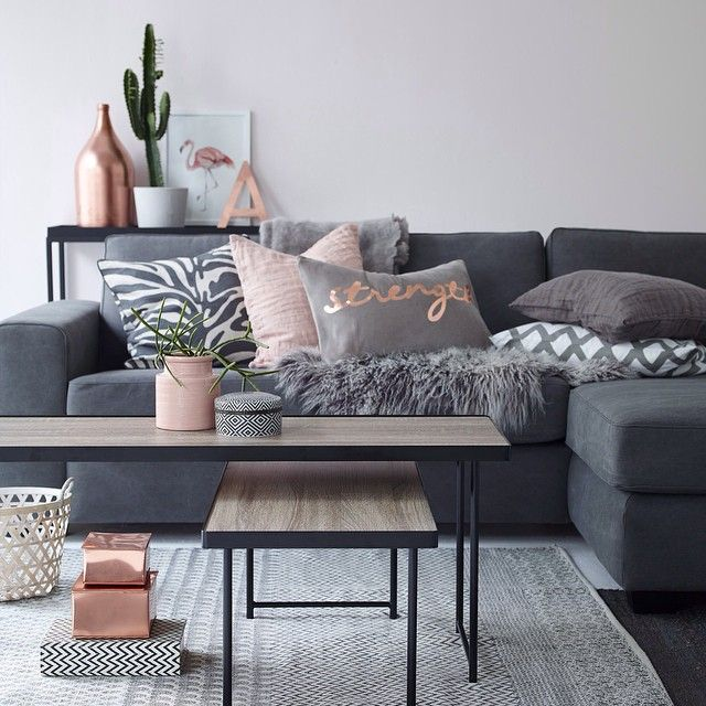 """Find your favorites for your home at ellos.com #elloshome #livingroom #sofa #pillows #table #carpet"""