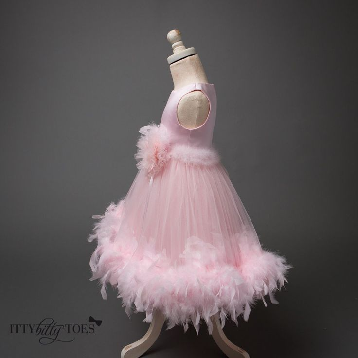 The perfect dress for going out on the town to a ballet or symphony! Offered by Baby Shop Online - Itty Bitty Toes!