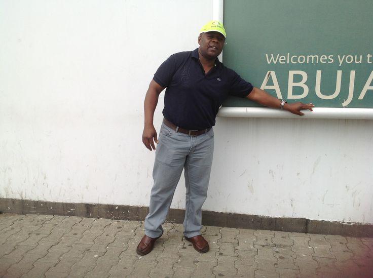 Barnabas Chirombo arriving in Abuja #QoolPlaceToWork