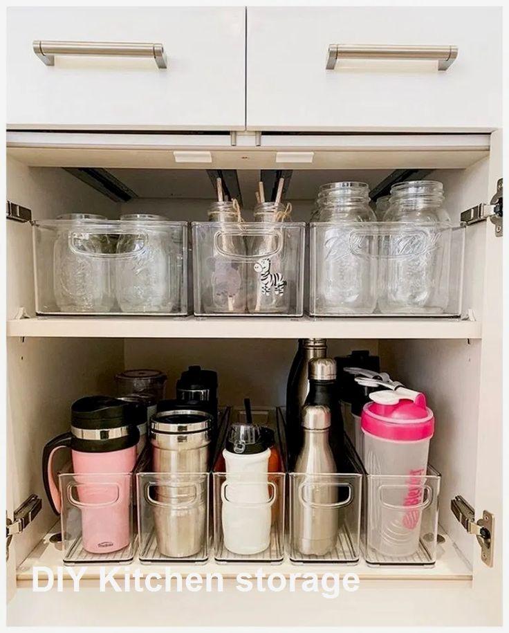 Kitchen Storage Ideas For Small Spaces Small Apartment Storage Diy Kitchen Storage Small Kitchen Organization