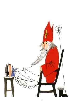 Sinterklaas is moe - door Fiep Westendorp