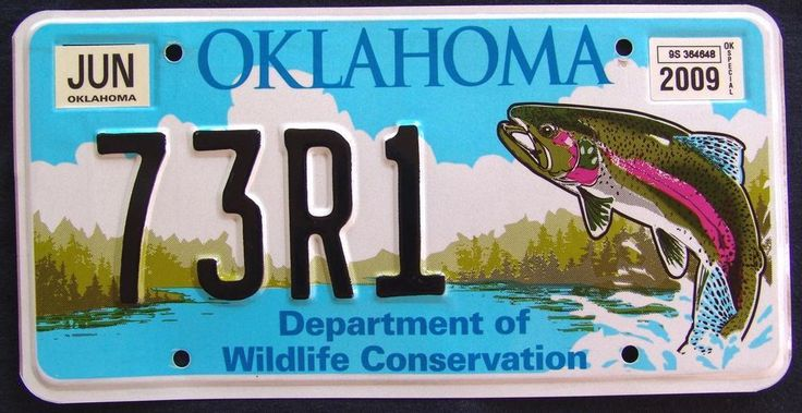 54 best fishy license plates images by on for Oklahoma fishing license online