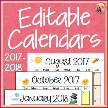 The 25+ best Editable calendar 2017 ideas on Pinterest