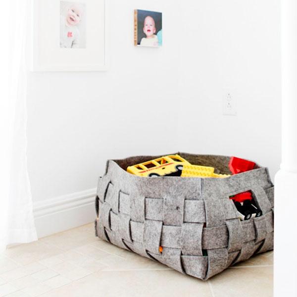 cute toy basket for living room - west elm
