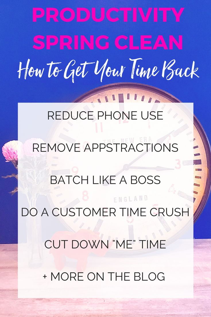 Want four easy areas that you can improve your productivity?  Give your time…