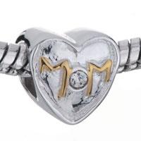 Pugster Golden Mom On 925 Sterling Silver Heart European Bead