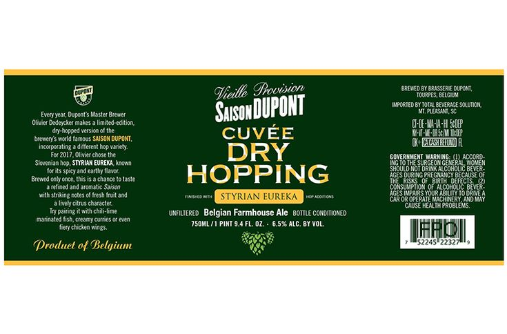 Brasserie+Dupont+Files+Label+For+Saison+Dupont+Cuvée+Dry+Hopping+2017