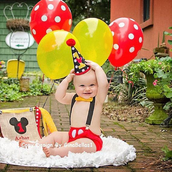 Mickey Mouse cumpleaños torta smash traje traje por GinaBellas1