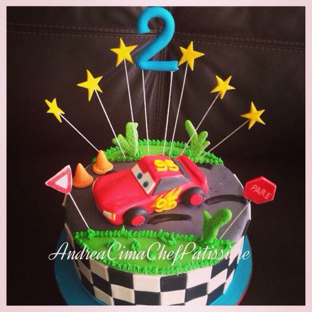 Rayo McQueen, cars, cake