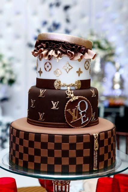 Louis Vuitton Designer Bag Triple Tier Cake