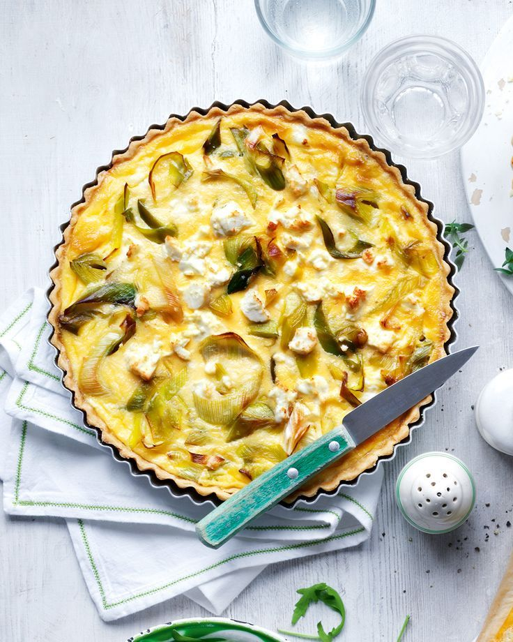 Soft leeks and crumbled feta cheese go together beautifully in this delicious vegetarian tart recipe.