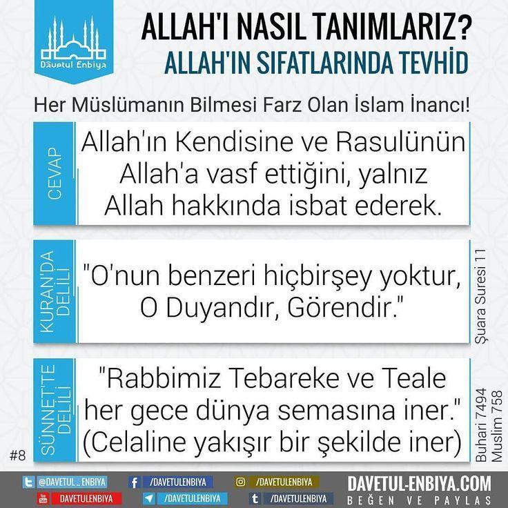#sıfat #sifat #tevhid #ayet #hadis #allah #inanç #iman #namaz #kuranikerim