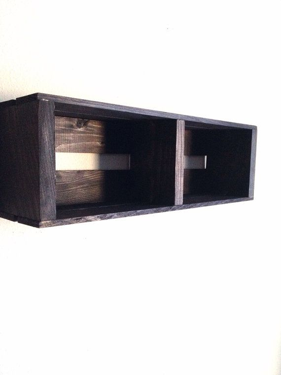 Small Wooden Crate Hanging Split Shelf Wall Fixture Shelves For Spice Rack Bathroom Decor