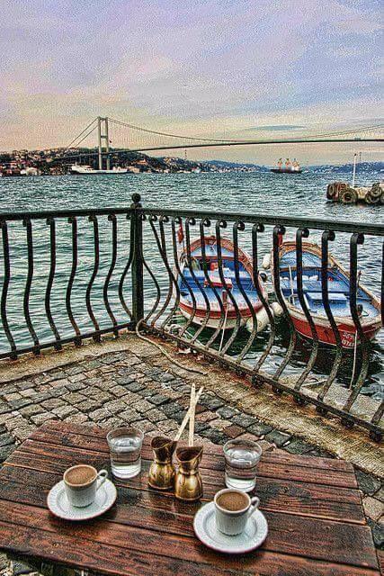 Hello !!! Good morning Istanbul.... Have a great taste morning coffee with nice aroma beyond the beautiful scenic spot. Merhaba!!! Günaydın istanbul.... Güzel bir lezzet sabah kahvesi güzel manzaralı ötesinde güzel aroma.