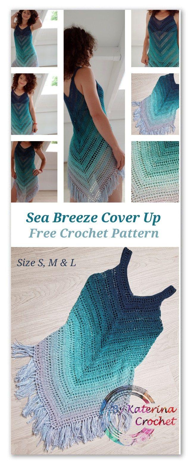Breeze Sea Cover Up Crochet Padrão