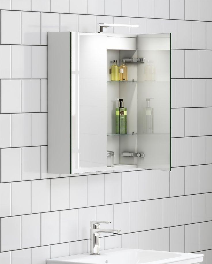 Spegelskåp Artic med LED-belysning.