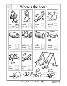 kindergarten language arts worksheets pdf