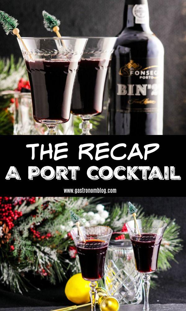 The Recap - A Port Cocktail - Fonseca Bin 27 Port, mint simple syrup, lemon juice, amaro, club soda. #wines #lemon #mint #cocktails