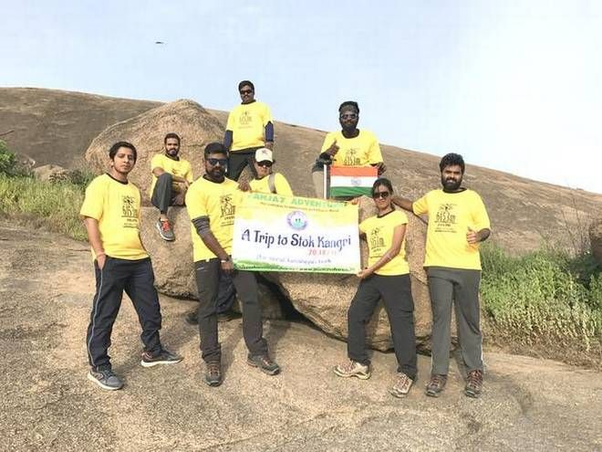 A 15 Year Old Girl Is All Set To Guide The Stok Kangri Trek   >>> It was last year when Jaahanavi guide her first trek for a mother-daughter duo to #MountEverestbasecamp. This time, she is ready to scale the peak with Suresh Reddy (44), a trekkers' team leader, Nikhil Anand (32), Harsha Venkat (31), Jabiulla (44), Uday Kiran (27), Manohar Madasu (26) and the senior-most being 52-year-old C.V.M. Raja Ram of NFC.  #StokKangri