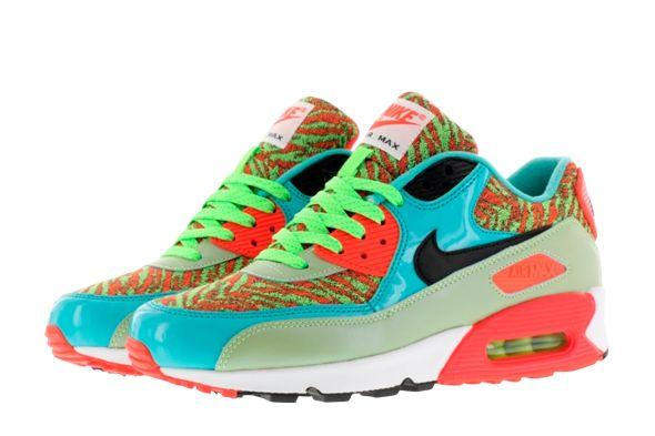 Nike Air Max 90 Anniversary \u0026quot;Flash Lime \u0026amp; infrared\u0026quot; 725235-306 | Sneakers
