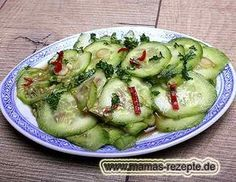 Rezept Gurkensalat asiatisch gewürzt auf Mamas Rezepte Homepage