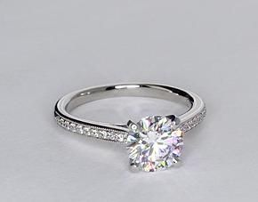 dream ring | Elegant with a touch of vintage | diamond engagement ring | heirloom petite cathedral pave diamond engagement ring