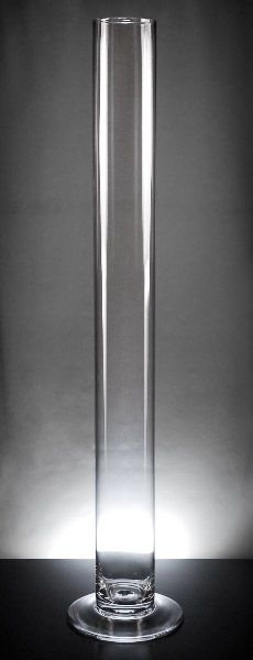 Extra Tall & Slim Cityscape 4 x 39.5  Cylinder Vases