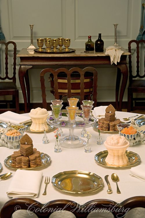 Governor's Palace at Colonial Williamsburg - Dining Table , Photo by David M. Doody