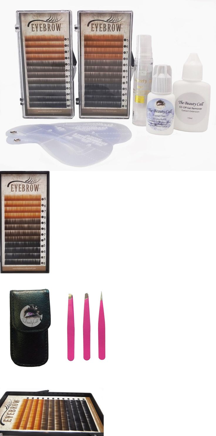 Eyelash Tools: Eyebrow Extension Kit: 4 Mix Size 5,6,7,8Mm 3 Colors Light, Dark Brown And Black -> BUY IT NOW ONLY: $63.99 on eBay!