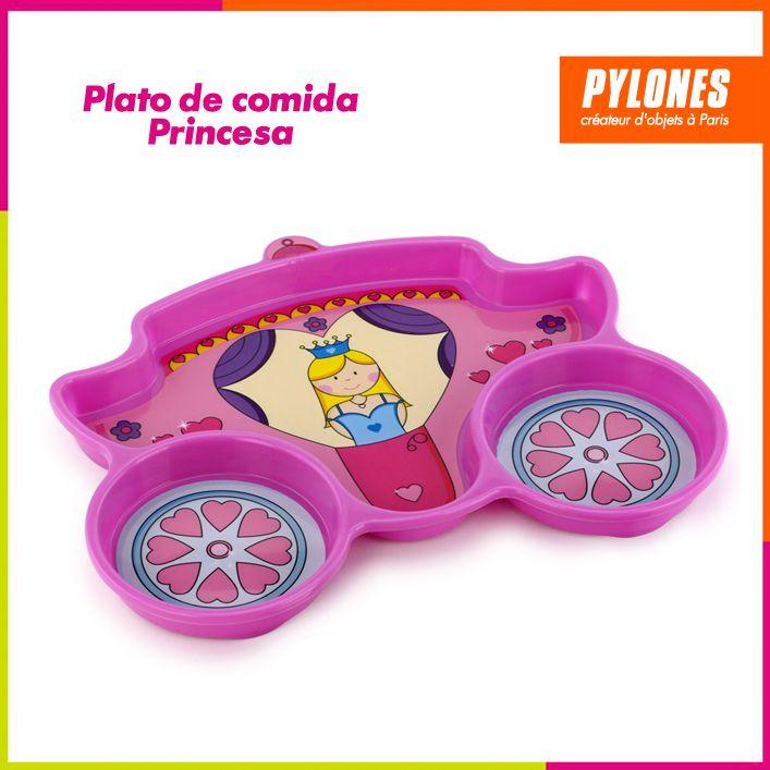 Plato de comida princesa #DíaDelNiño #FelizDíadelNiño @pylonesco
