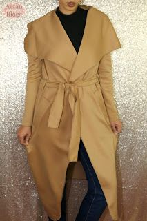 Boohoo Katie Shawl Collar Belted Duster Size S/M Camel http://arzan11fashion.blogspot.ca/2017/01/winter-boohoo-try-on-haul-2017.html