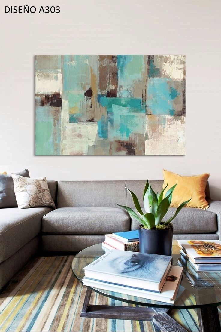 Cuadros Modernos 80x120 Abstractos Tripticos Texturados - $ 3.199,99