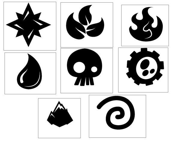 16 Skylanders Elements Stickers Labels Loot Goody Gift