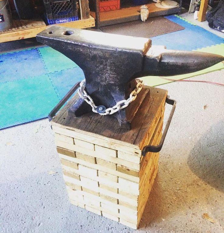 7 Best Anvil Stands Images On Pinterest Blacksmith Tools