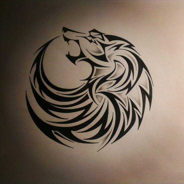 Dessin Tatouage Tribal Tête De Loup