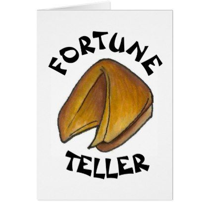 Fortune Teller Cookie Chinese Restaurant Good Luck Card - good gifts special unique customize style