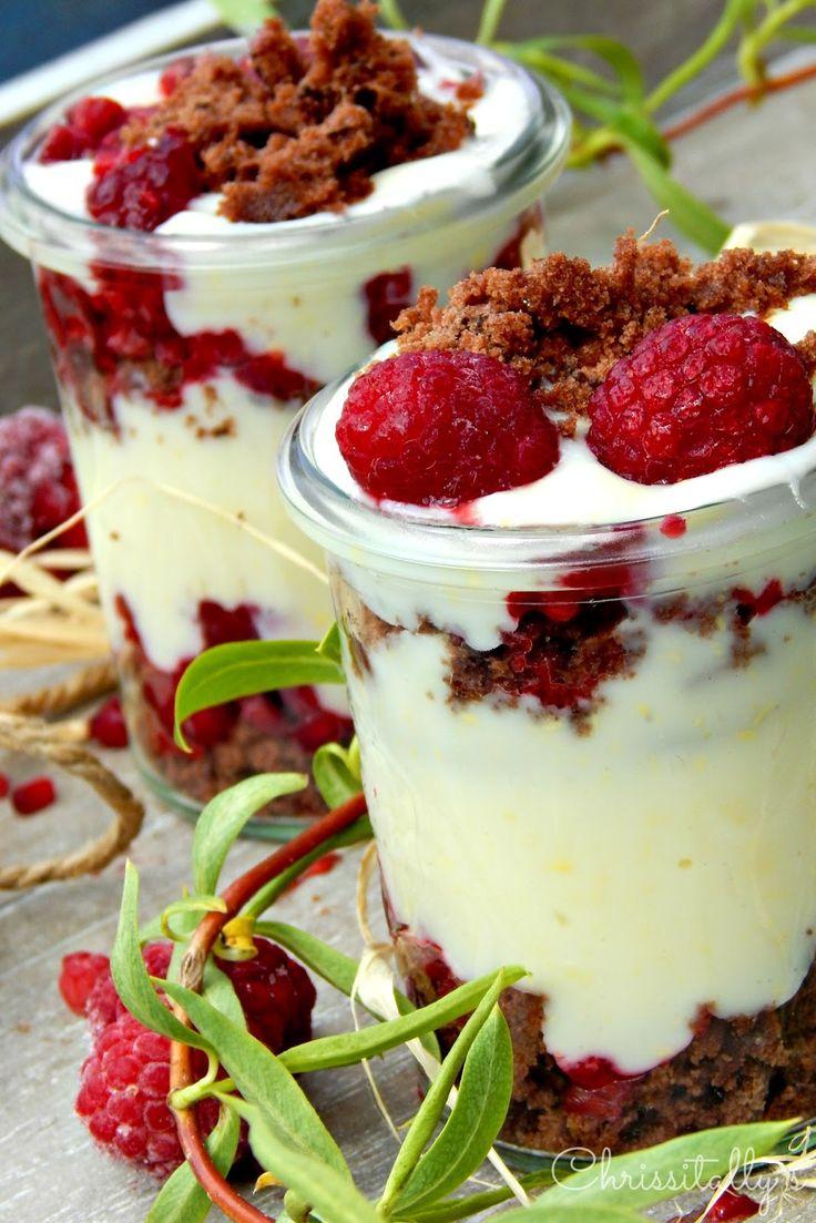 Himbeer-Pudding-Schokocrumble