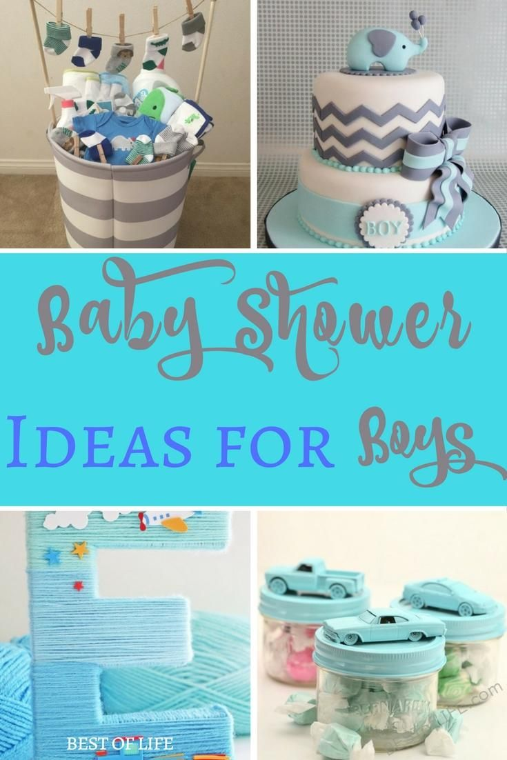 Baby shower ideas for boys will help you throw the ultimate baby shower and may even end up with you being tasked with throwing more than just one party. via @AmyBarseghian