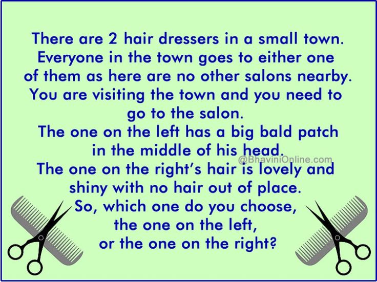 Logical Riddle Which Hairdresser Would You Go to? Jokes