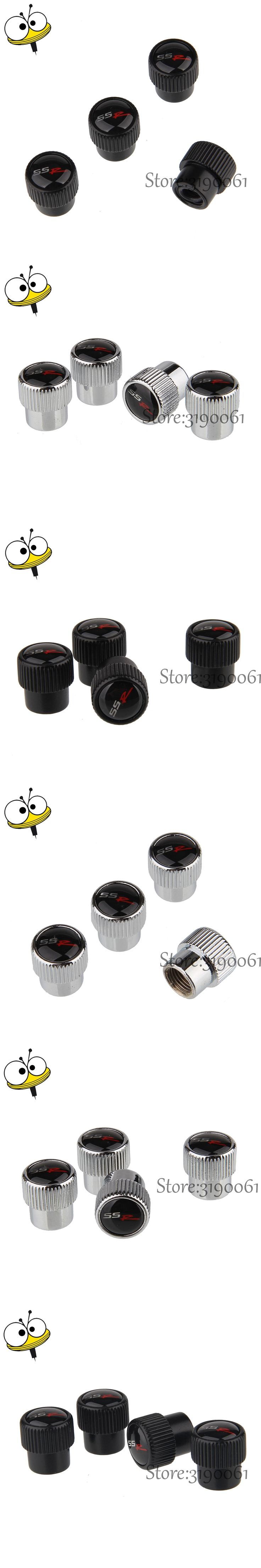 Metal Tire Valve Stems Caps Car Accessories For SSR Logo For Chevrolet Cruze Silverado Captiva Spark Orlando Aveo Malibu Epica