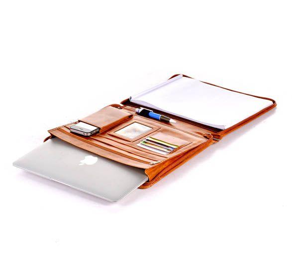 Carpeta portafolio de piel