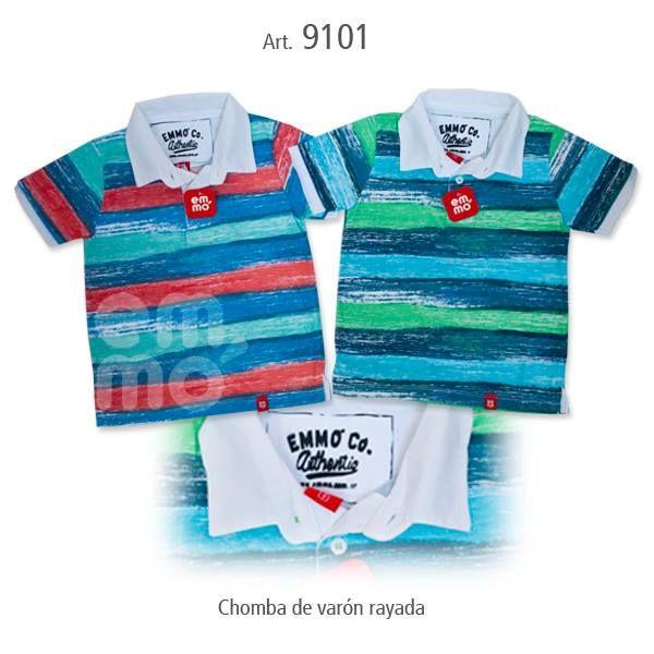 Chombas de varón Rayadas, encontralas en Emmó Plaza Canning! Variedad de talles y colores!