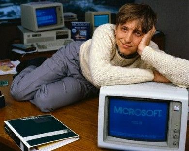 Bill Gates in his youth - Microsoft brain ~ doing more now (2013) than ever to make the world a better place through his and his wife's philanthropic foundation.