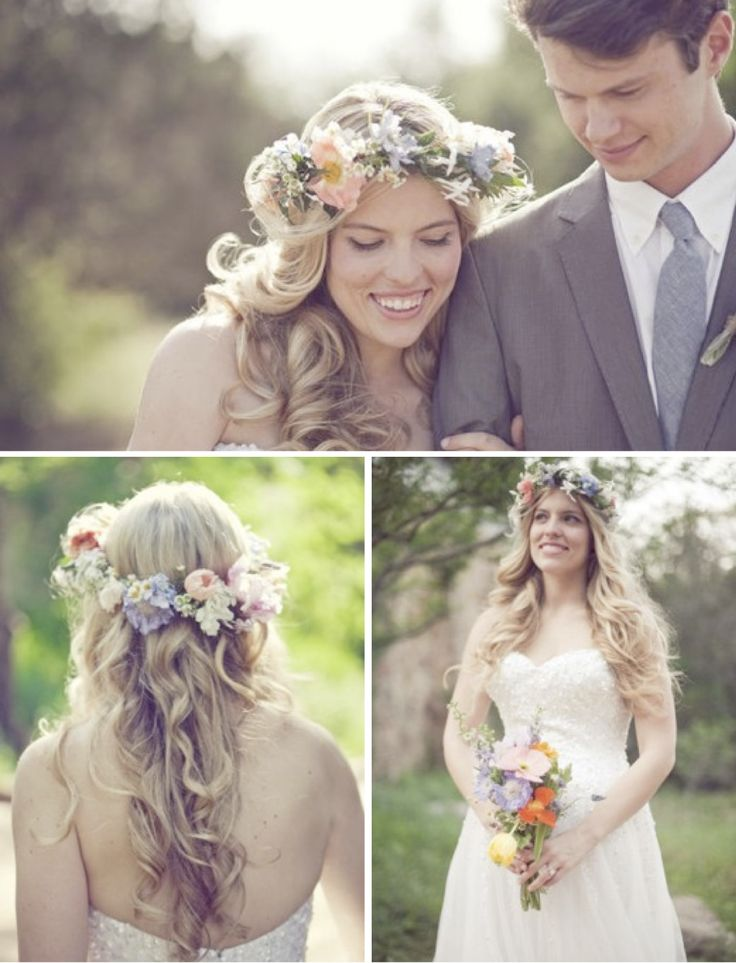 spring time pastel hued flower crown ~ my favourite out of all 30 floral garlands in this post!