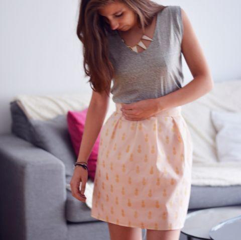 Coudre une jupe à fronces avec Iris   Filoute
