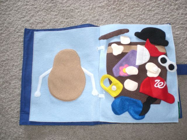 10 images about quiet book pages on pinterest activity for Mr potato head felt template