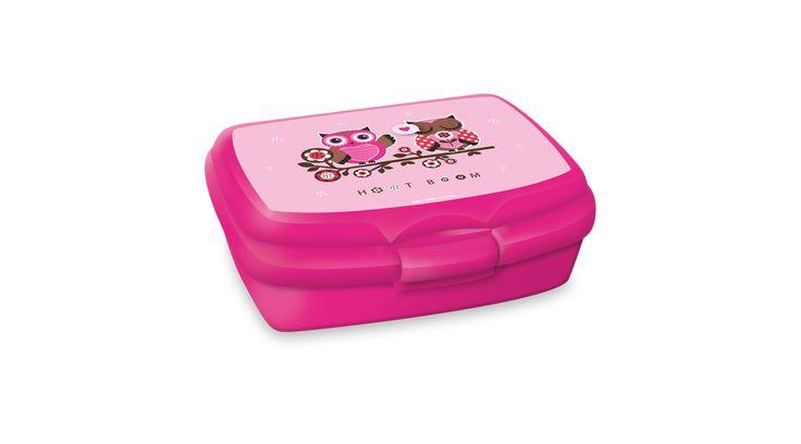 Hoot Boom uzsonnás doboz. Mosogatógépben mosható, hűtőszekrénybe, mikrohullámú sütőbe is tehető, műanyag uzsonnás doboz. Iskolába, óvodába, kiránduláshoz. Méret: 160x70x105 mm.