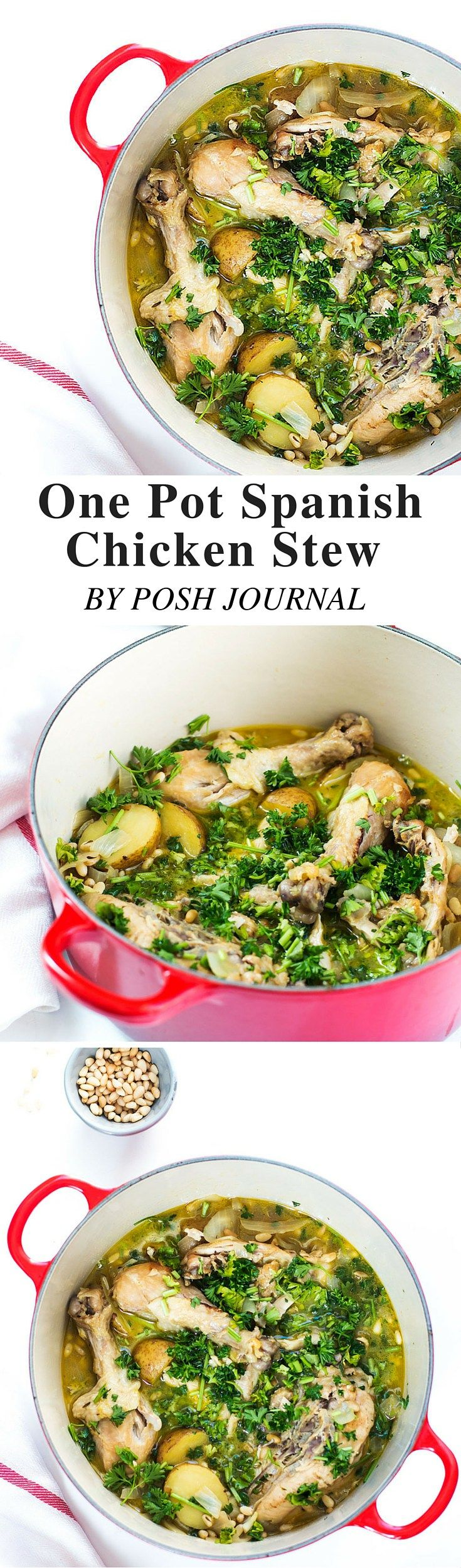 One Pot Spanish Chicken Stew Recipe - Posh Journal . Hearty and delicious! Try this easy-to-follow One Pot Spanish Chicken Stew Recipe, perfect for warming a winter night.