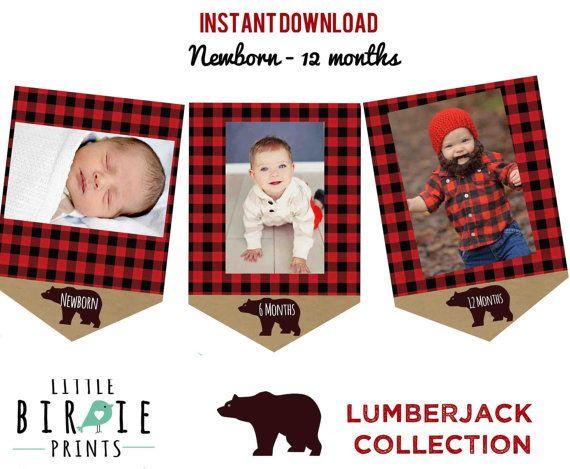 LUMBERJACK First Birthday Party Lumberjack by littlebirdieprints